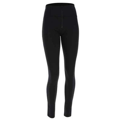SKINNY BLACK D.I.W.O.® PRO BEAUTY EFFECT HIGH WAIST SELF TONE ZIP