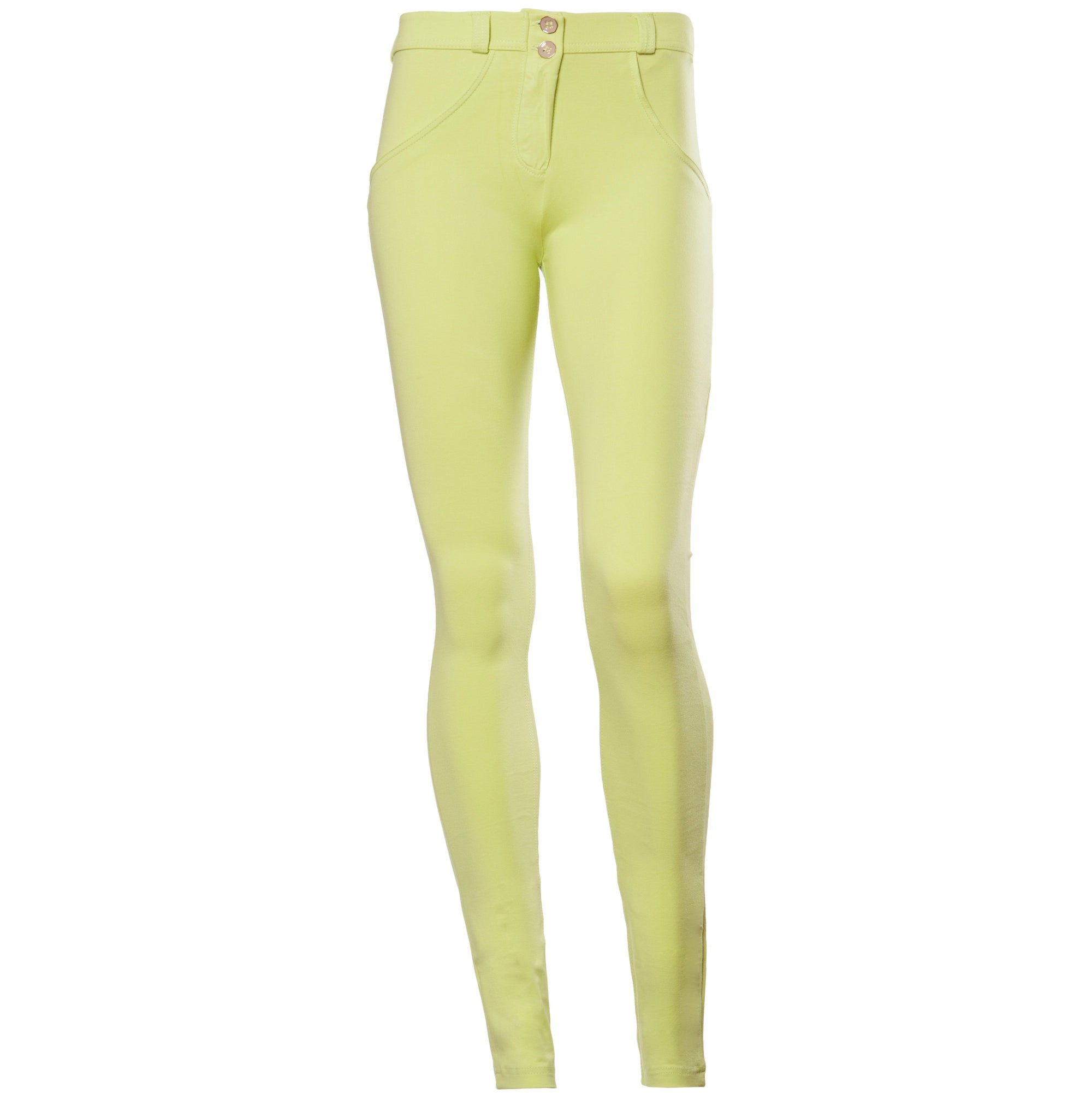 PASTEL YELLOW SKINNY MID-RISE