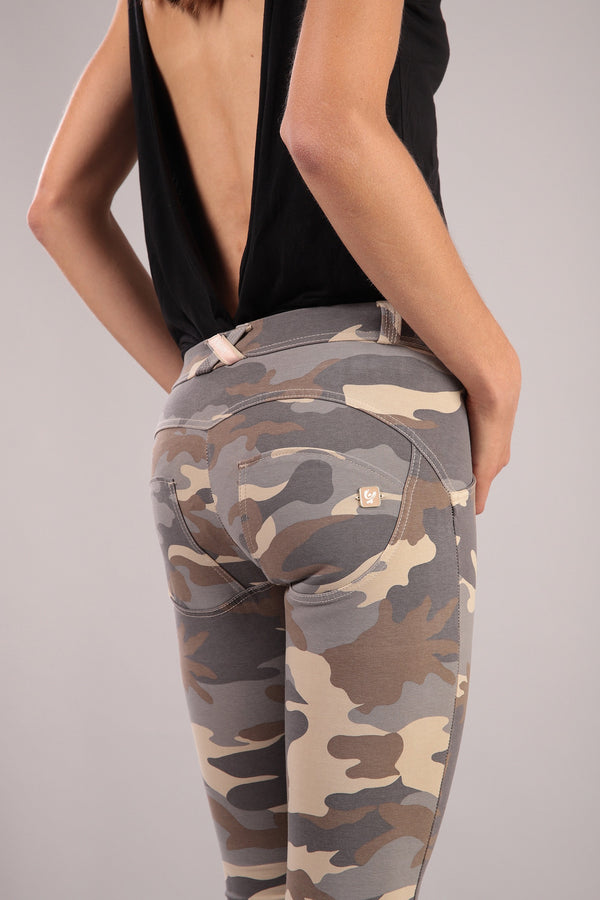 LIGHT CAMO PRINT ALL OVER MID RISE