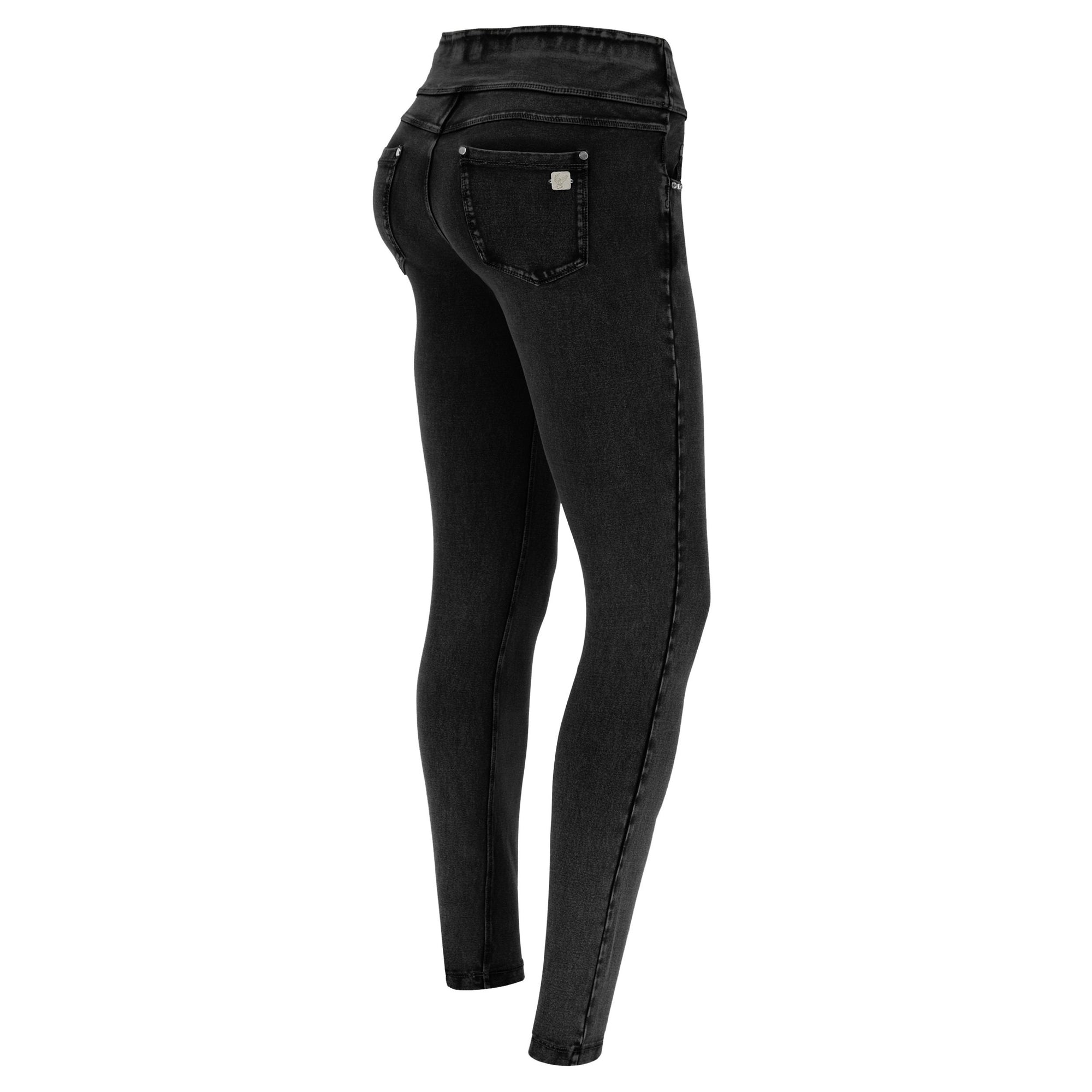N.O.W JEGGING 5 POCKET BLACK DENIM BLACK STITCH