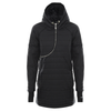 BLACK QUILTED PARKA CURVE JACKET