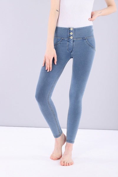 ANKLE LIGHT DENIM 3 BUTTONS REGULAR HIGH RISE