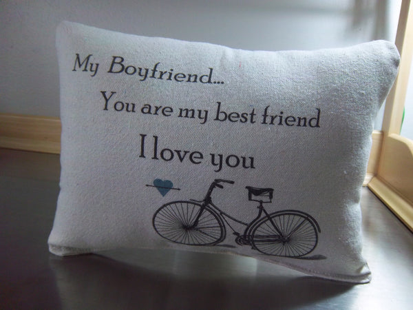 Boyfriend long distance gift pillow birthday gift throw pillows guy gift ideas