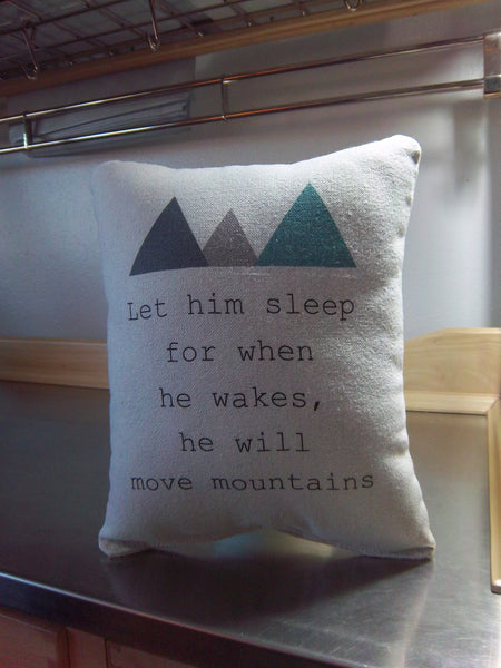 Baby boy gift mountain nursery pillow cotton cushion kids gift