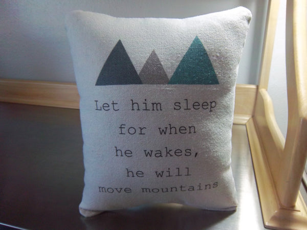 Boy pillow baby shower gift cotton quote throw pillow newborn gift ideas