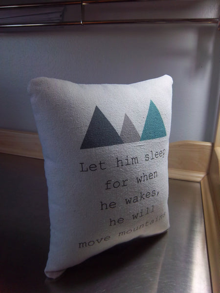 pillow for boy baby shower gift