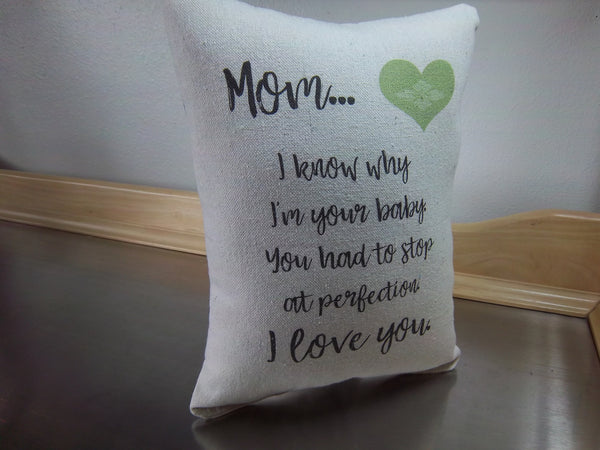 funny mom pillow gift