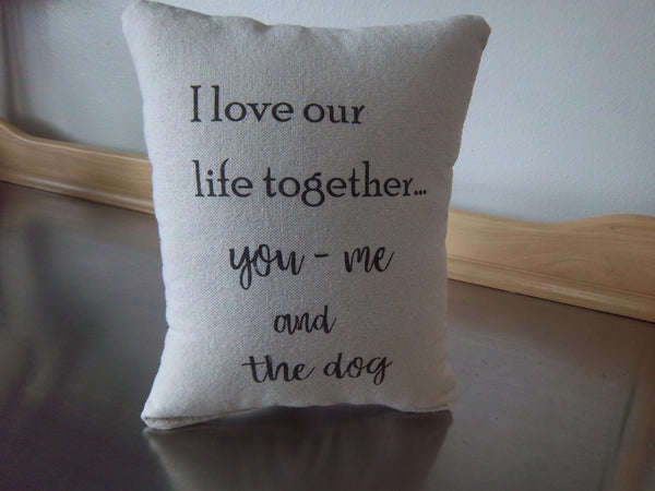 2nd anniversary gift cotton pillow