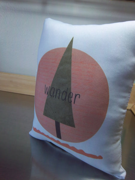 Wander pillow, first birthday gift, kids ornament, nursery room decor - Sweet Meadow Designs