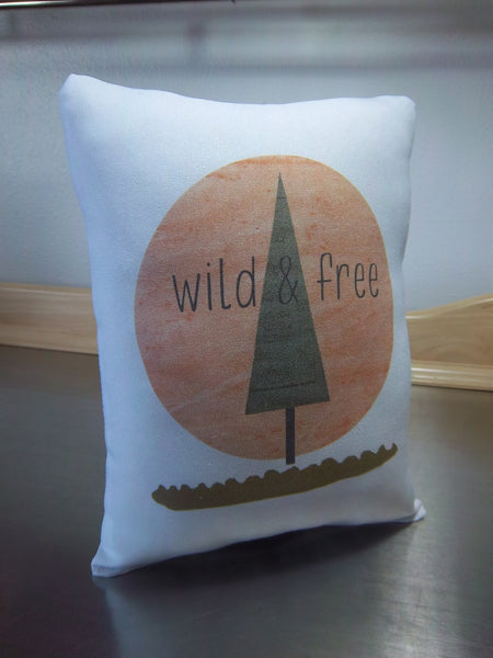 Woodland nursery pillow, kids cotton ornament, baby shower gift - Sweet Meadow Designs