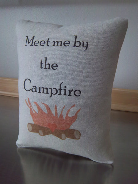 Adventure pillow camping throw pillow just because gift cotton cushion RV home decor
