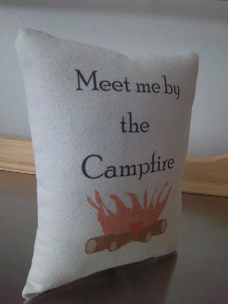Camping pillow, new motorhome  gift,  RV  decor - Sweet Meadow Designs