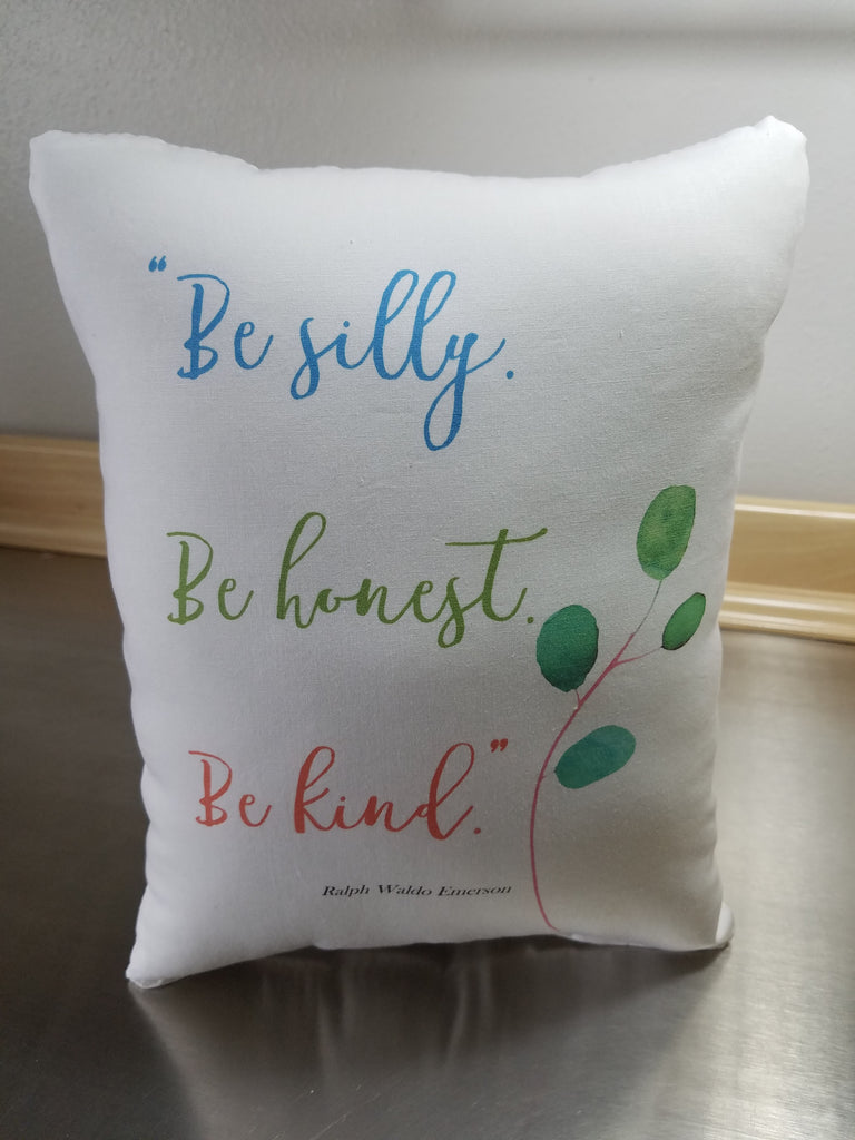 Pillow for kid's room, Ralph Waldo Emerson quote, cotton nursery ornament - Sweet Meadow Designs