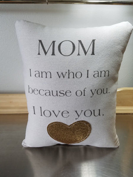 Mother birthday gift, best mom pillow, mama quote cushion - Sweet Meadow Designs