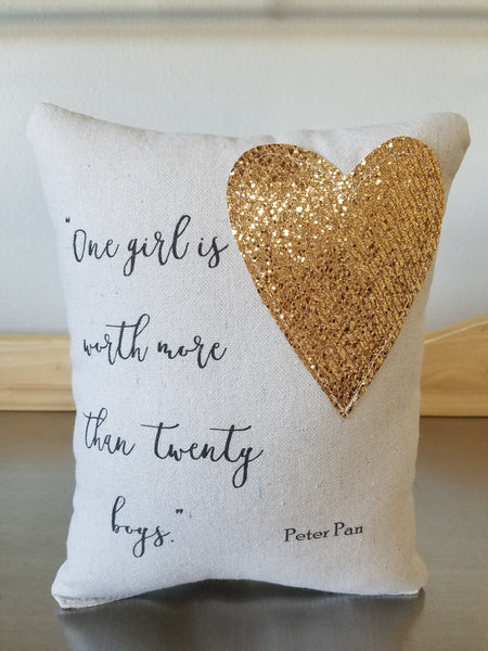 Dorm room decor pillow Peter Pan throw pillow quote cushion college room decor ideas