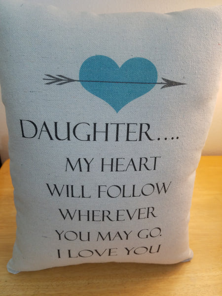Daughter gift pillow