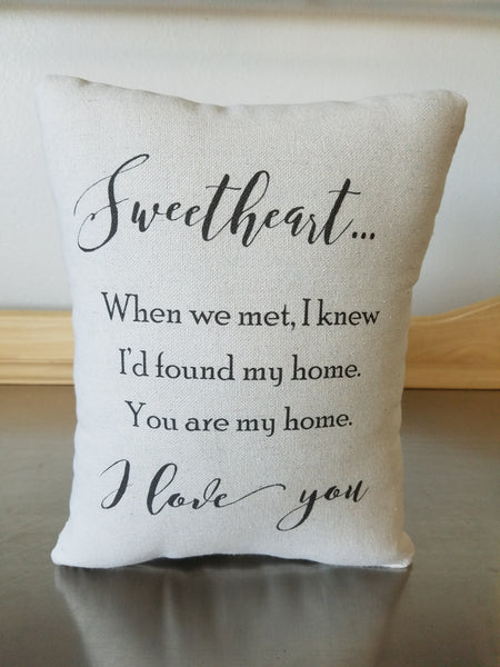 I love you gift pillow cotton throw pillow anniversary gift home decor