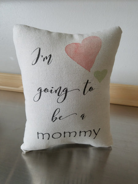 Mom To Be Gift Pillow Baby Bump Gifts Cotton Throw Pillow