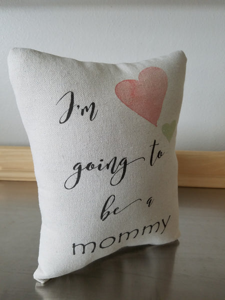 Pregnancy pillow, new mom gift, cotton quote ornament - Sweet Meadow Designs