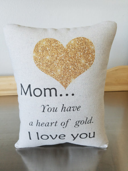 Gift for mom pillow mother I love you throw pillow