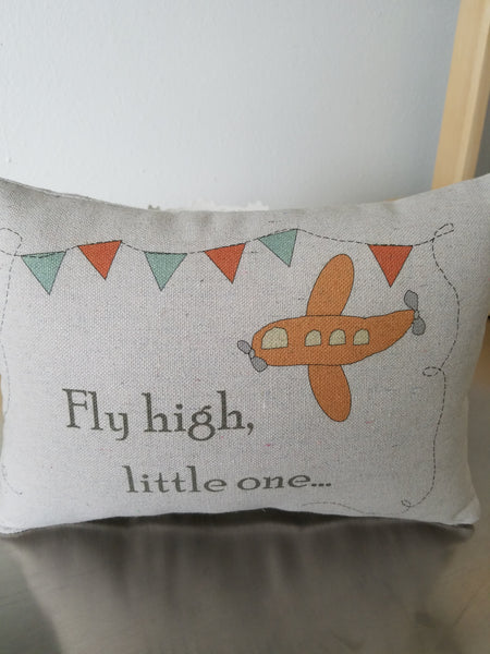baby quote pillow airplane pillow
