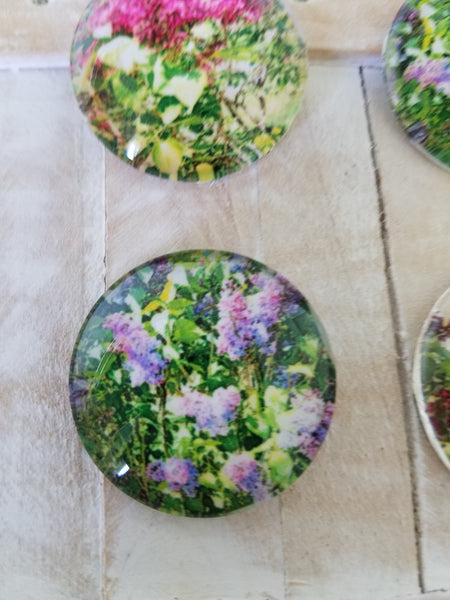 Nature magnets, pretty lilac magnet set of 4, shower favors - Sweet Meadow Designs