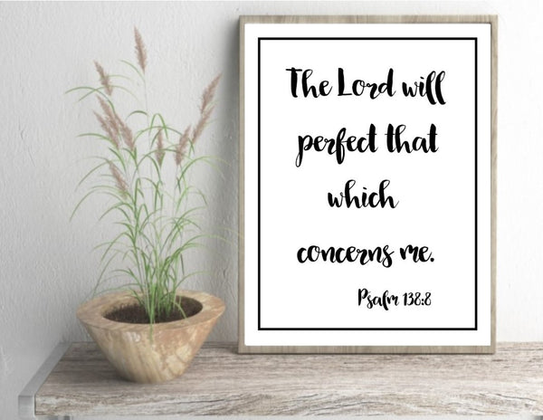 Home office wall art print unframed scripture poster bible quote art gift bedroom wall decor