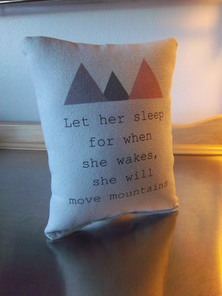 girl mountain pillow