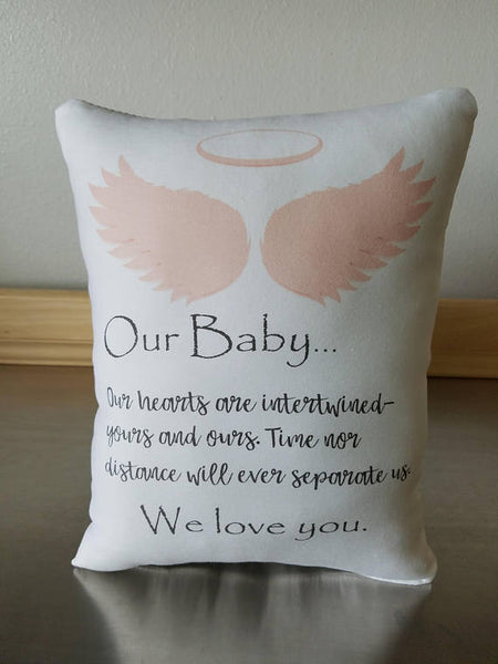 Sympathy gift pillow loss of baby gifts throw pillow child memory gift - Sweet Meadow Designs