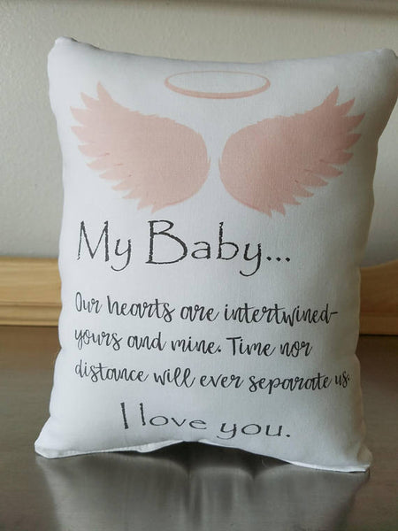 Baby memorial throw pillow miscarriage gift pillow loss of child gift