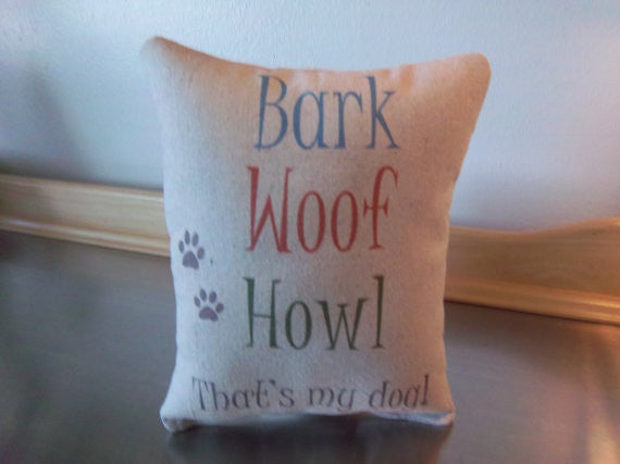 My dog pillow, funny puppy cushion, gift for pet parent - Sweet Meadow Designs