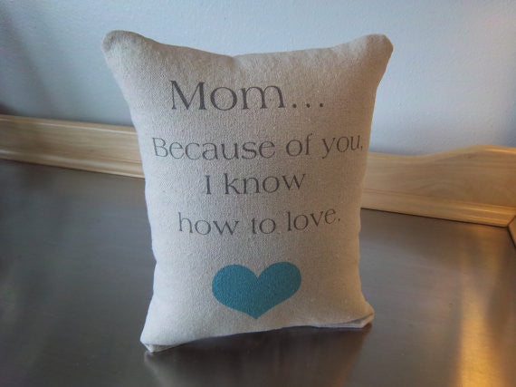 Mom pillow mom birthday gift throw pillow word art cushion gift