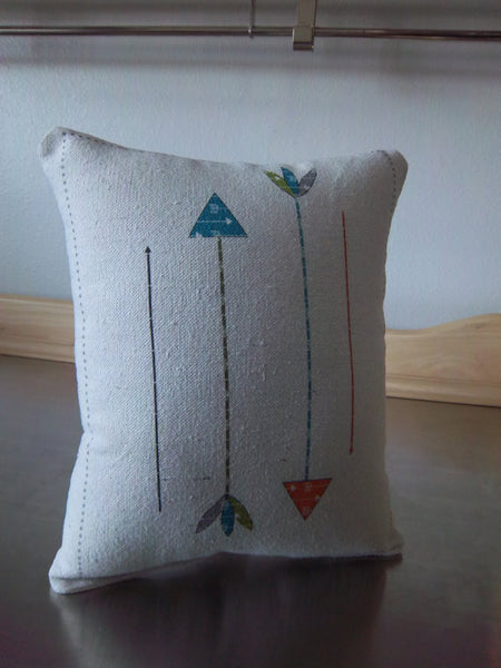 Baby room pillow, arrow cotton ornament, newborn shower gift - Sweet Meadow Designs