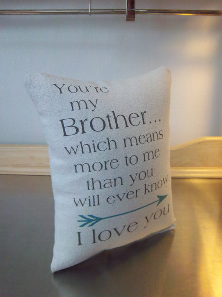 Gift for brother cushion