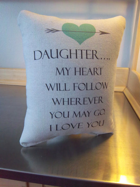 Daughter gift pillow gift from mom throw pillow cotton home decor