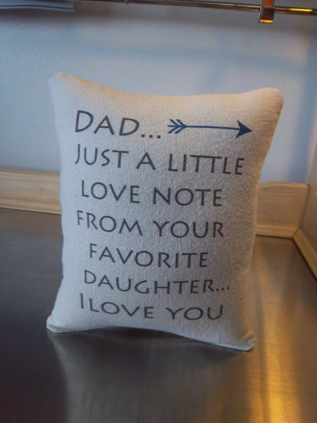 Dad gift from daughter throw pillow birthday gift for dad pillow father cushion