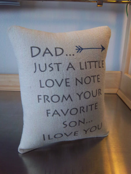 Dad gift from son throw pillow birthday gifts for dad pillow father cushion