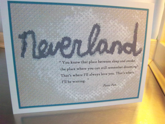 Neverland print, unframed 8 x 10 poster, Peter Pan wall sign