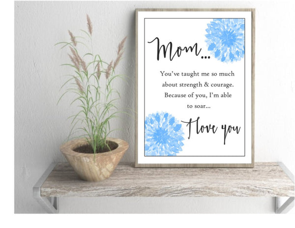Mother birthday gift, mom art print, unframed mama quote, wall art - Sweet Meadow Designs