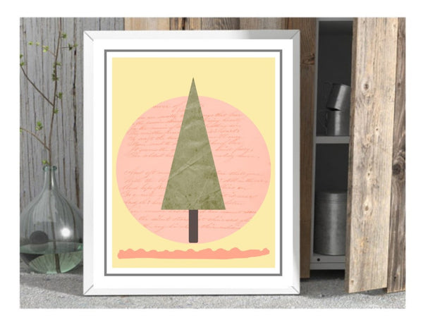 kids wall print woodland