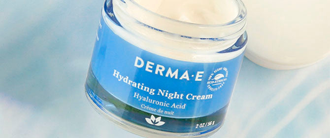 Close up of Hydrating Night Cream by Derma E