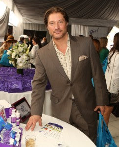 Sean Kanan of The Bold and the Beautiful looks dapper at the derma e® table