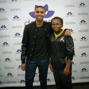 Donis Leonard, Jr. of House of Lies is all smiles with brother Solomon