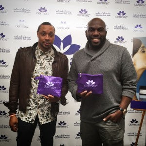 Dorian Missick and Omar Dorsey pick up some derma e® of their very own