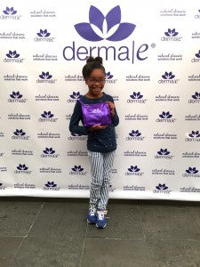 Marsai Martin of Black-ish is utterly adorable with her derma e® purple bag!