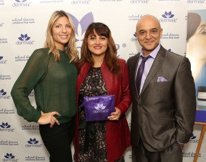 Virginia is happy to introduce derma e® to Omar Akram and his lovely wife