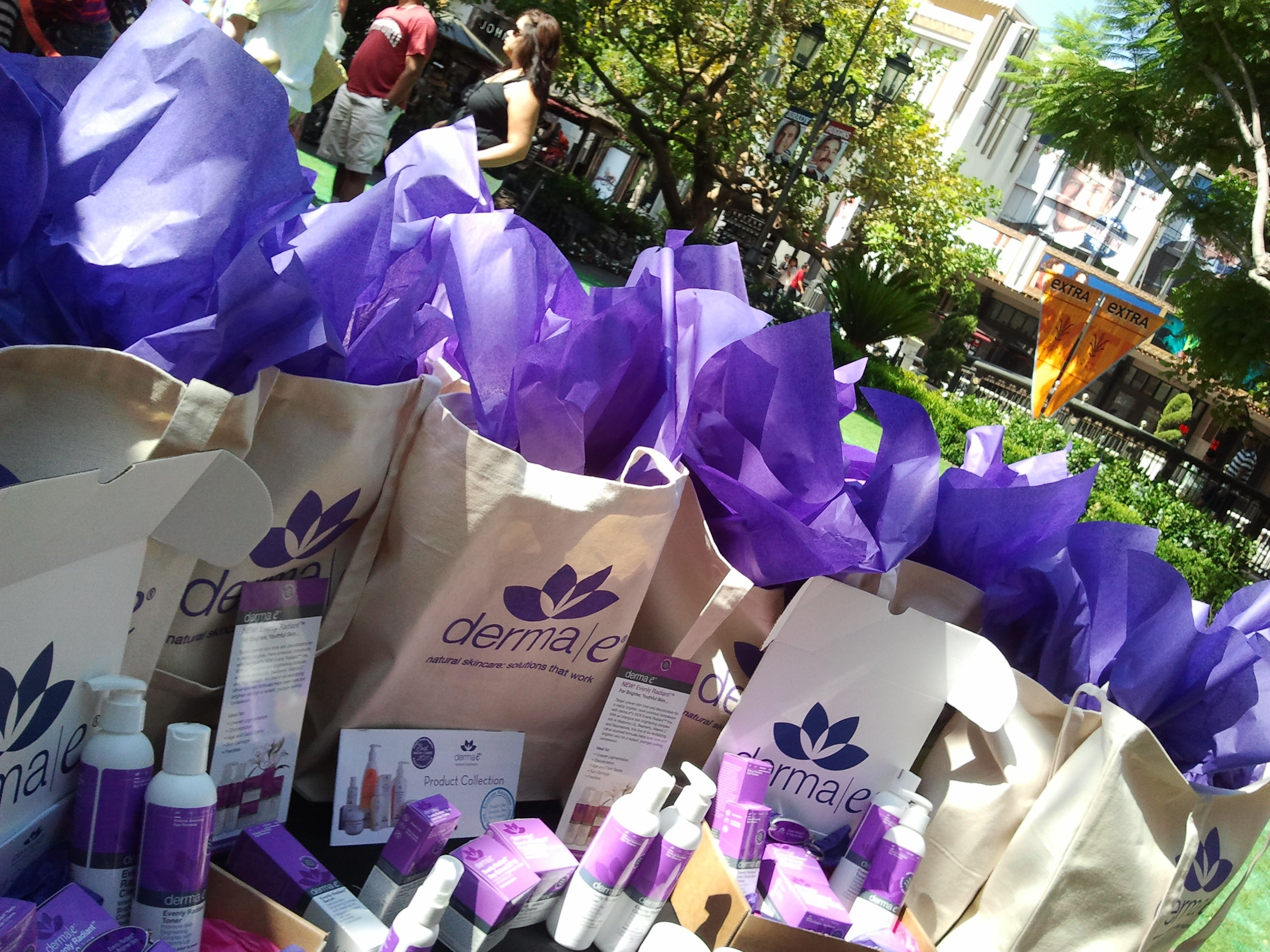 derma e gift bags on extra