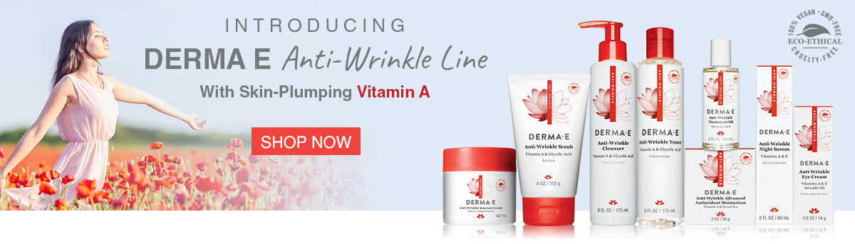 Anti-Wrinkle Line Banner Graphic with Product Images.