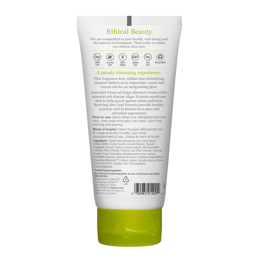 Purifying Gel Cleanser Tube Back Panel