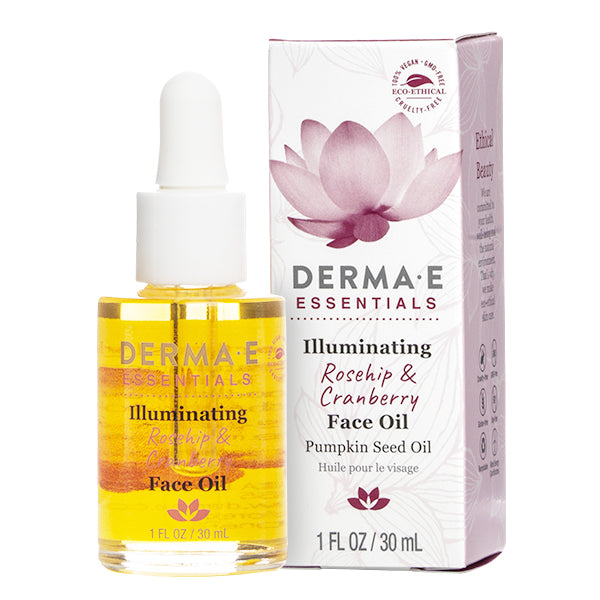 Illuminating Rosehip & Cranberry Face Oil Bottle and Carton